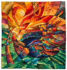 """/// Handwoven Miniature Tapestry. """"Aire Vital"""". The Museo Maximo Laura Collection. ///"""