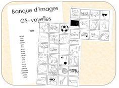 Banque d'images GS pour les maisons des sons (voyelles)