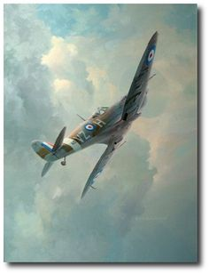 AVIATION ART HANGAR - High Flight by Keith Ferris (Spitfire)