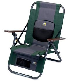 Lightweight and compact, the GCI Outdoor Wilderness Recliner Chair is easy to transport on short and long treks alike. Unlimited reclining positions make it a ready camping companion for campfire conversation or enjoying a drink tentside. About $60; REI