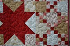 Quilted wall hanging Sofa throw Midwinter Reds by raincityquilts