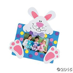 """Easter Bunny Picture Frame Magnet Craft Kit 