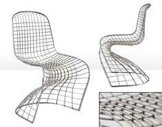 Muebles COSAS de ARQUITECTOS:  Silla trenzada acero cromado - Sillas y Sillones de Diseño - Muebles de Diseño