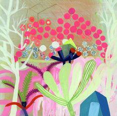 :emon Leaves. 6x6 on panel