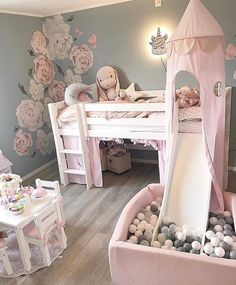 baby girl nursery room ideas 758997343435935932 - Using Little Girls Room Adhere to a design style that you will love, but in addition one which can help make your room feel larger. Decorating a kid's room can be fun, partic… Source by nadiababaei Baby Bedroom, Baby Room Decor, Nursery Room, Bedroom Decor, Room Baby, Kid Decor, Girls Bedroom Mural, Themed Nursery, Bedroom Furniture