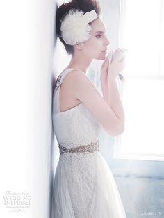 love the details on this one! Annasul Y 2012 Wedding Collection