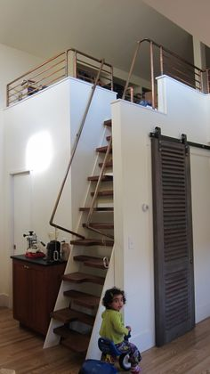 Loft stairs - angle view