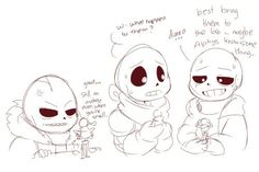Fell swap and classic sans and papyrus