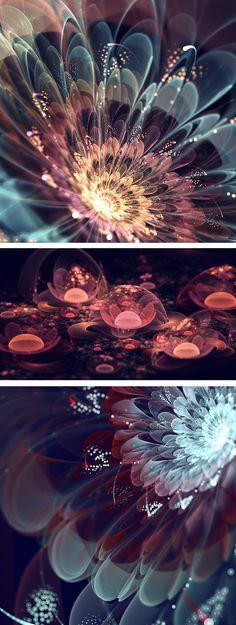 Fractal flowers by Silvia Cordedda | fractal art | digital art | digital flowers  | computer-generated art | computer generated flowers