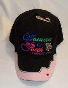 7d1144da2ba WOMEN OF FAITH CHRISTIAN HAT BASEBALL CAP (Share your faith) PROVERBS 31 30