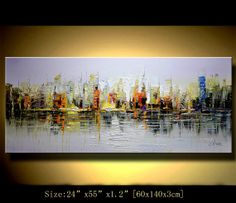 Original Acrylic Abstract painting ABSTRACT PAINTINGS Modern Art for sale LARGE modern art Textured Modern Palette Knife Painting Chen m039