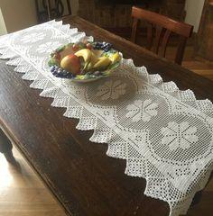 Long Table Runner  Crochet Table Runner  by EmptyingTheAttic