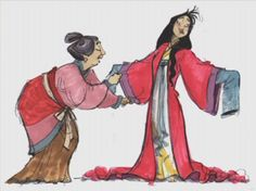 Concept art for Mulan (1998) by Walt Disney Animation Studios
