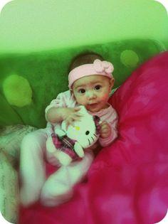my daughter Miyuki (i call her Miyukitty)... she is wearing her Hello Kitty headband and loving her Hello Kitty plushie.. supercute wildcard (pinterest saturday) #SephoraHelloKitty