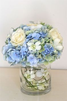 Wedding Flowers Blog: Claudia's Pale Blue,Green,Ivory Wedding Flowers, De Vere Grand Harbour