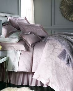 """Italiano"" Collection Bed Linens by Matouk at Horchow."