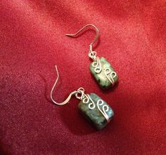 A personal favorite from my Etsy shop https://www.etsy.com/listing/212947988/african-turquoise-bead-earrings