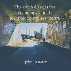 The art challenges the technology and the technology inspires the art!  #art #technology #inspiration #creative