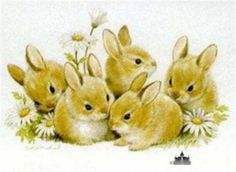 Bunnies Five by Ruth Morehead