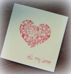 Floral Heart Valentines Card - The Supermums Craft Fair
