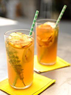 Thyme Lemonade with Grilled Lemon Slices Recipe : Food Network - FoodNetwork.com