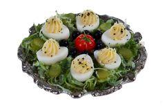 deviled eggs miniature dollhouse  food. $14.99, via Etsy.