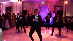 Weddings are memorable for any number of reasons. However this groom and seven groomsmen put on an unforgettable show for the bride.