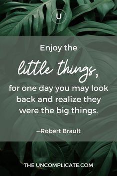 Enjoy the little things, for one day you may look back and realize they were the big things. You May, One Day, Little Things, Looking Back, Motivationalquotes, Ecommerce, Inspirational, Big, E Commerce
