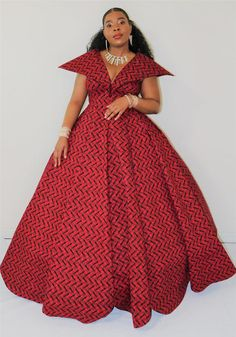 Ball gown/ball gown wedding dress/ball gown prom dress/ball gown for women/ball gown dress/red ball gown/prom dress/african clothing – beautiful wedding dresses Latest African Fashion Dresses, African Dresses For Women, African Print Fashion, African Attire, Red Ball Gowns, Ball Gowns Prom, Ball Gown Dresses, Prom Dress, Dress Red