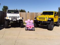 This is how we announced our Baby Girl. Jeeping is a big thing in our family!