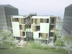 Simone Piacenti - Residential building complex inspired to bioarchitecture - Terni (Rome)