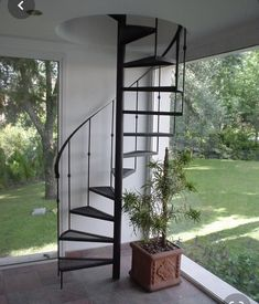 You will admire these fascinating loft stairs ideas, they are innovative and fresh. Steel Stairs, Loft Stairs, House Stairs, Spiral Stairs Design, Spiral Staircase, Staircase Design, Exterior Stairs, Modern Staircase, Stairway To Heaven