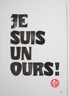 """Poster """"Je suis un ours"""""""