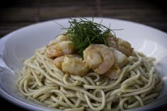 Delicious Garlic Noodles with Shrimp  #Chinese #ChineseFood #Food #Noodles #Shrimp