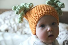Orange beanie for girls Crochet hat by BambinoStore on Etsy