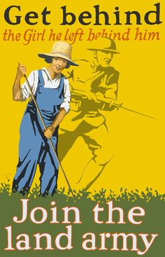 During World War I, the Women's Land Army served as a support group to help women keep up the nation's food production. Some women were even transported from their homes to rural areas to help.