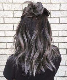 graue Himmel fallen Haarfarben