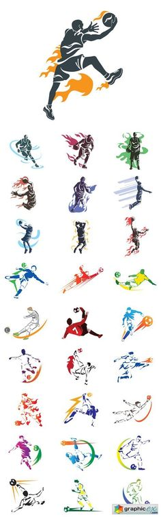 Modern Professional Basketball and Soccer Player  stock images