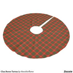 Clan Burns Tartan Brushed Polyester Tree Skirt