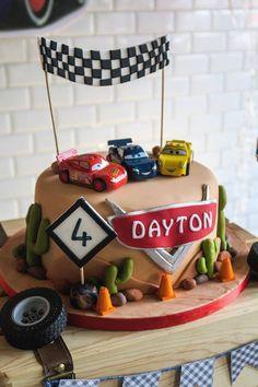 Disney's Cars Cake from a Lightning McQueen Cars Birthday Party on Kara's Party Ideas   KarasPartyIdeas.com (6)