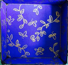 """Kerala"" box, the inside of the lid"