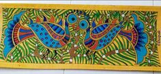 Indian Artwork, Indian Folk Art, Indian Paintings, Abstract Paintings, Madhubani Art, Madhubani Painting, Saree Painting, Painting Styles, Book Marks