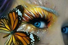 Butterfly face paint ...