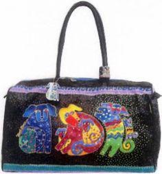 Travel Bag Indigo Dogs By Burch, Laurel