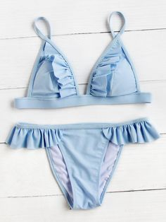 Shop Frill Detail Triangle Bikini Set online. SheIn offers Frill Detail Triangle Bikini Set & more to fit your fashionable needs.