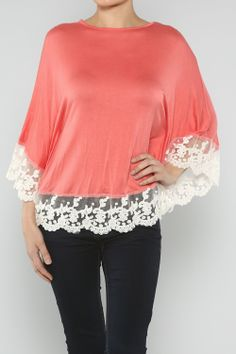 Embroidery Trim Poncho #wholesale #love #valentines #holiday #fashion #clothing #ootd #wiwt #shopitrightnow #earrings #bracelets #necklaces #accessories #pink #red #cupid