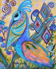 Pelican Art, Branch Art, Abstract Animals, Tropical Birds, Handmade Books, Art Portfolio, Whimsical Art, Bird Art, Art Day
