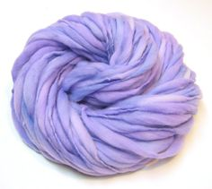 Handspun thick and thin yarn, super bulky, in merino wool - 50 yards, 2.75 ounces/ 79 grams