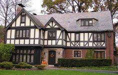 english tudor homes | Multi-paned Windows : Tudor Revival homes often feature large banks of ...