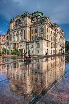Kosice (Koszyce) Still raining by Miroslav Petrasko Beautiful Sites, Beautiful Places In The World, Central And Eastern Europe, Heart Of Europe, Malta, Historical Architecture, Bratislava, Czech Republic, Romania